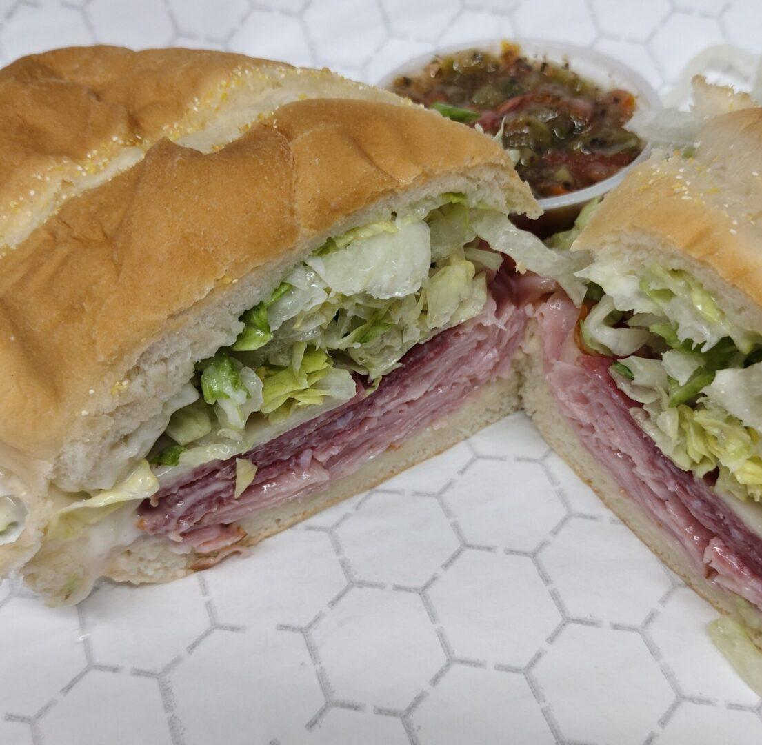 High Nooner Hot Grinder Sandwich